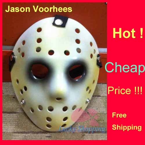 Jason Voorhees Freddy hockey Festival Party Full Face Old Mask Black Eyeliner 100gram PVC Halloween Masks 5 - LADIES First store