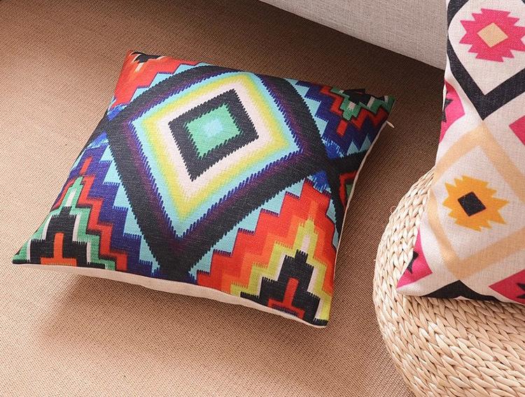 """18 """" praça geométrica de linho algodão capa de almofada Ikea casa decorativo jogar travesseiro travesseiro carro sofá Retro CaseHD61"""