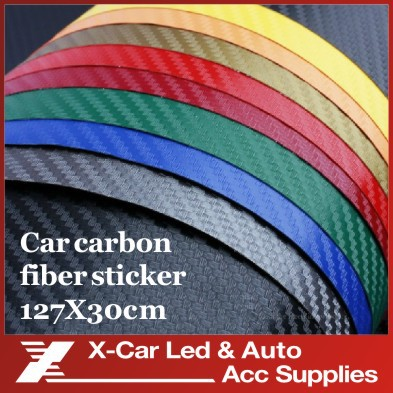 127*30CM 3D Carbon Fiber Vinyl Car Wrapping Foil Carbon Fiber Car Decoration Sticker Many Color Option Freeshipping(China (Mainland))