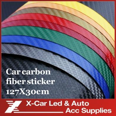 127*30CM 3D Carbon Fiber Vinyl Car Wrapping Foil Carbon Fiber Car Decoration Sticker Many Color Option Freeshipping(China (Mainland))