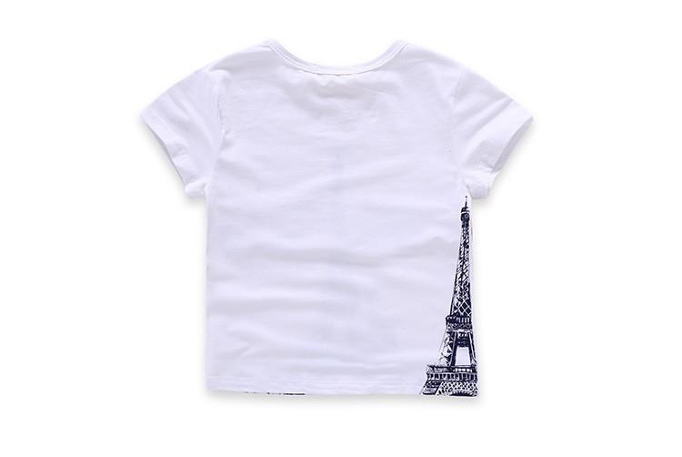 Free Shipping New Summer Fashion Cotton Girls Boys Clothes  Children T Shirts Kids Boy Short Sleeve Tshirts for 3-13T