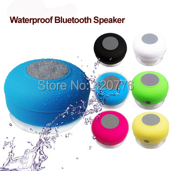 Hot sale portable subwoofer Waterproof Wireless Bluetooth Speaker Shower Car Handsfree Receive Call & Music Suction Phone Mic(China (Mainland))