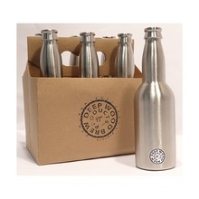 330ml Beer Bottle, Stainless Steel 304, Standard Beer Bottle, Bottling Equipment, 2pcs/lot homebrew(China (Mainland))