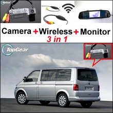 Buy 3 in1 Special Camera + Wireless Receiver + Mirror Monitor DIY Parking System Volkswagen VW T5 Transporter Caravelle Multivan for $69.97 in AliExpress store