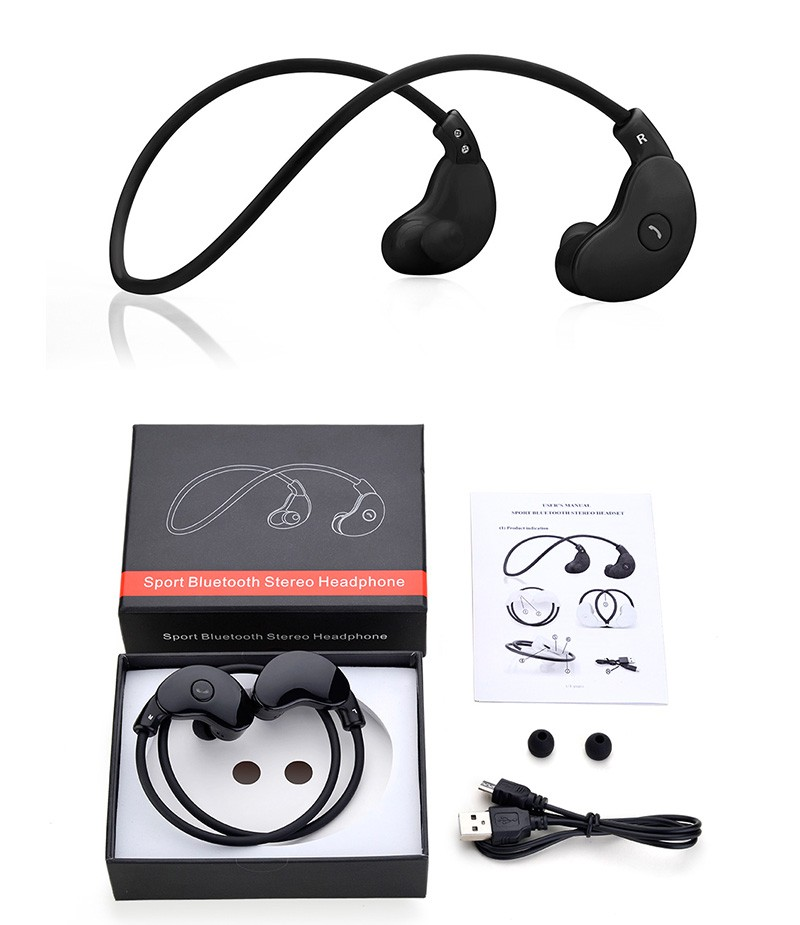 Hisonic Bluetooth Headset bluetooth earphone With Mic For iPhone Earbuds auriculares deportivos Earphones wireless headphone