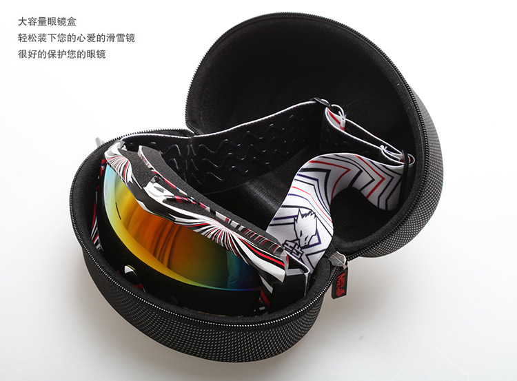 Factory wholesale EVA shockproof waterproof ski glasses carrying case for all North wolf ski glasses drop resistance protection(Hong Kong)