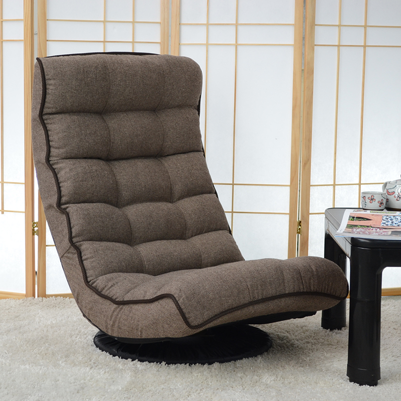 Floor recliner chair 360 degree swivel rotation japanese for Stylish lounge furniture
