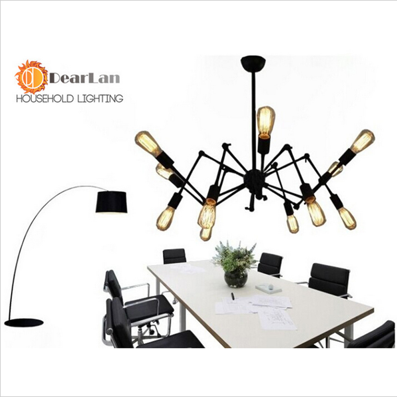 Modern Novelty Pendant Lamp,8 Arms White/Black/Red Spider Pendant Light,Decoration Drop Lamp For Kitchen,Bedroom,Living Room<br><br>Aliexpress