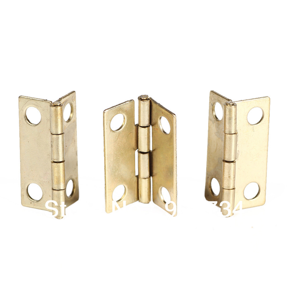 High Quality 10Pcs Door Butt Hinge Bisagras Charnieres Mini Iron Hinges Cabinet Drawer on Sale(China (Mainland))