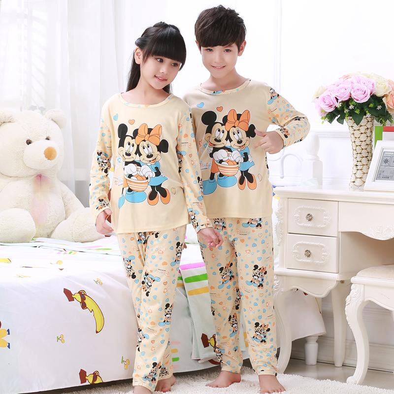 Children Pajamas New Sale 2016 Autumn&Winter Baby Sleepwears Suits Lovely Girls Pyjamas boys Cartoon Pijamas Kids Clothing set(China (Mainland))