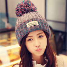 2015 Women Winter Warm Braided Crochet Knitting Hat Girls Beret Ski Beanie Ball Cap Winter Snow Knitted Hat 30