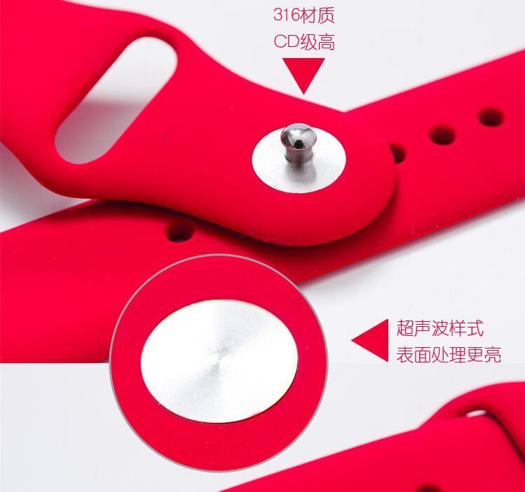 fohuas 1:1 Оригинальный 21 цветов красочные 42 мм 38 ремешок силиконовые для Apple Watch band спорта Пряжка браслет 1 серия 2