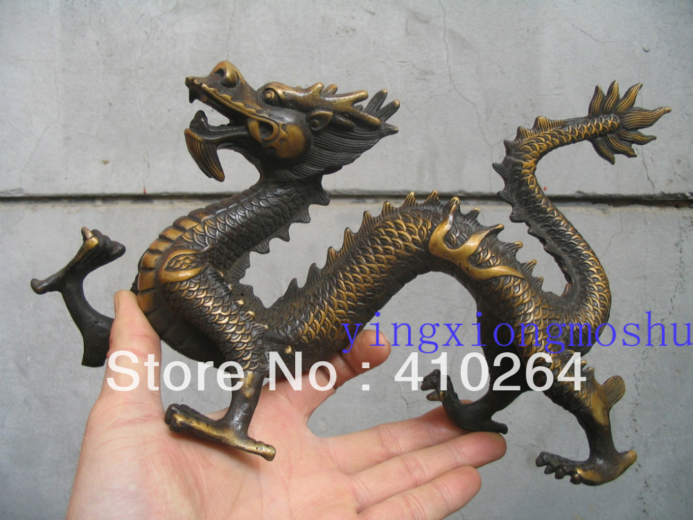 [Nice Discount ] 30cm I am lifelike to fly dragon bronze statue(China (Mainland))