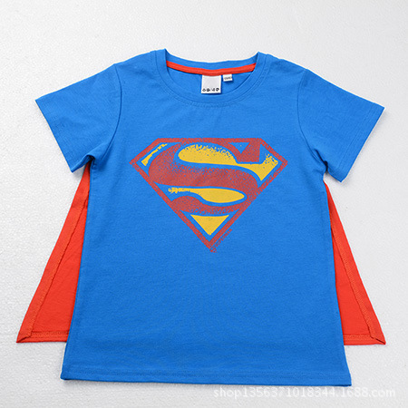 2016 NEW Superman T Shirt Lovers clothes boy's girl's casual Batman O neck short sleeve t-shirts kids Cotton tees,C084 - Rising Kid store
