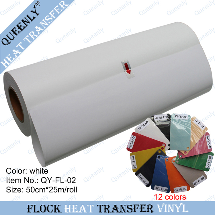 Wholesale flock heat transfer vinyl hot press material for sportswear 50cm*25m/roll(China (Mainland))