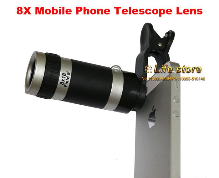 Универсальный телескоп-объектив с 8-кратным зумом Оптический мобильный телефон клип объектив для сони Xperia Сони Xperia Т3 С3 D2533 Сони Xperia Z3 и D6653