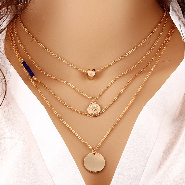 Vintage Charming Gold Plated Bar Statement Necklace Chocker Necklace Collier Femme Long Chain Drop Maxi Necklace Love Mujer(China (Mainland))