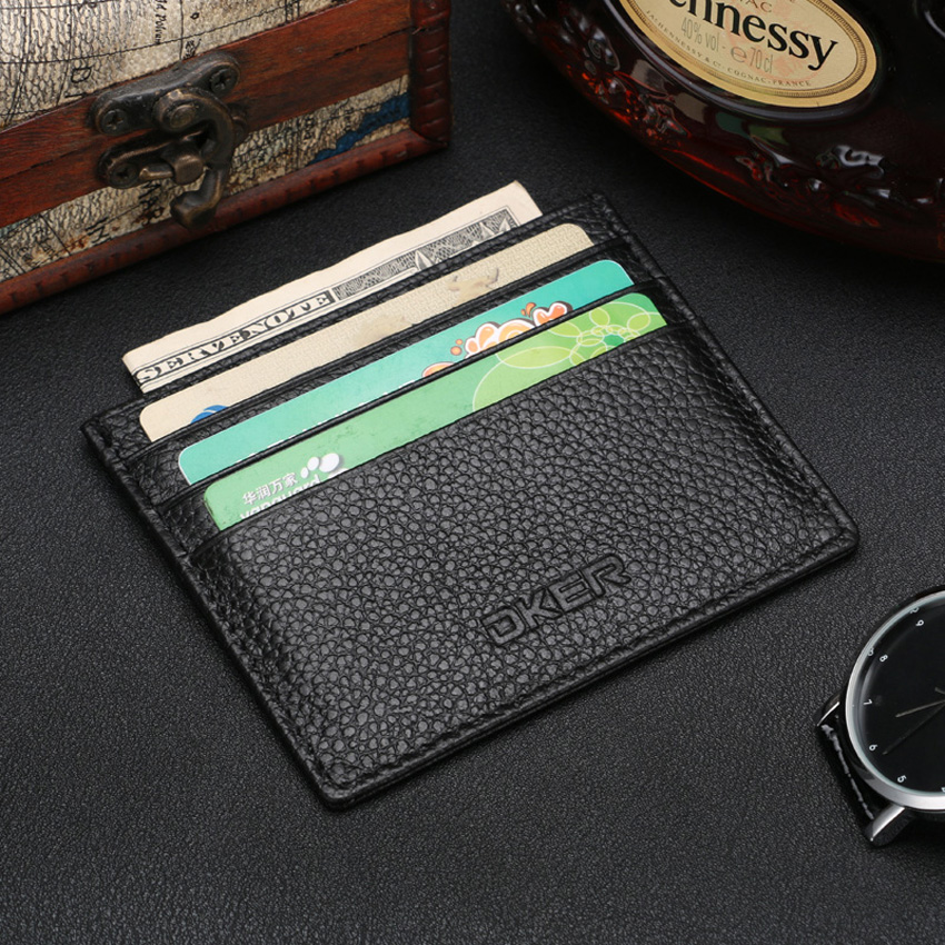 Гаджет  Free Shipping Genuine Leather Vintage Womens Men Pouch ID Credit Card Wallet Cash Holder Organizer Case Box  D2035 None Камера и Сумки