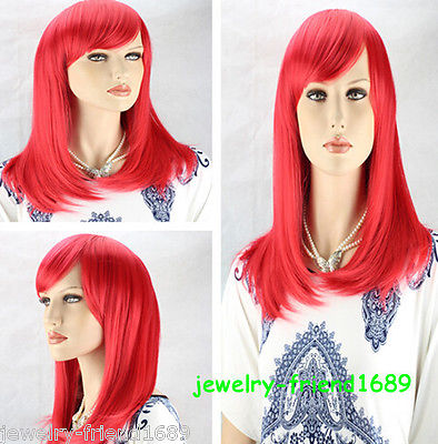 Wholesale heat resistant LY free shipping New font b wig b font Heat Resistant Cosplay Red