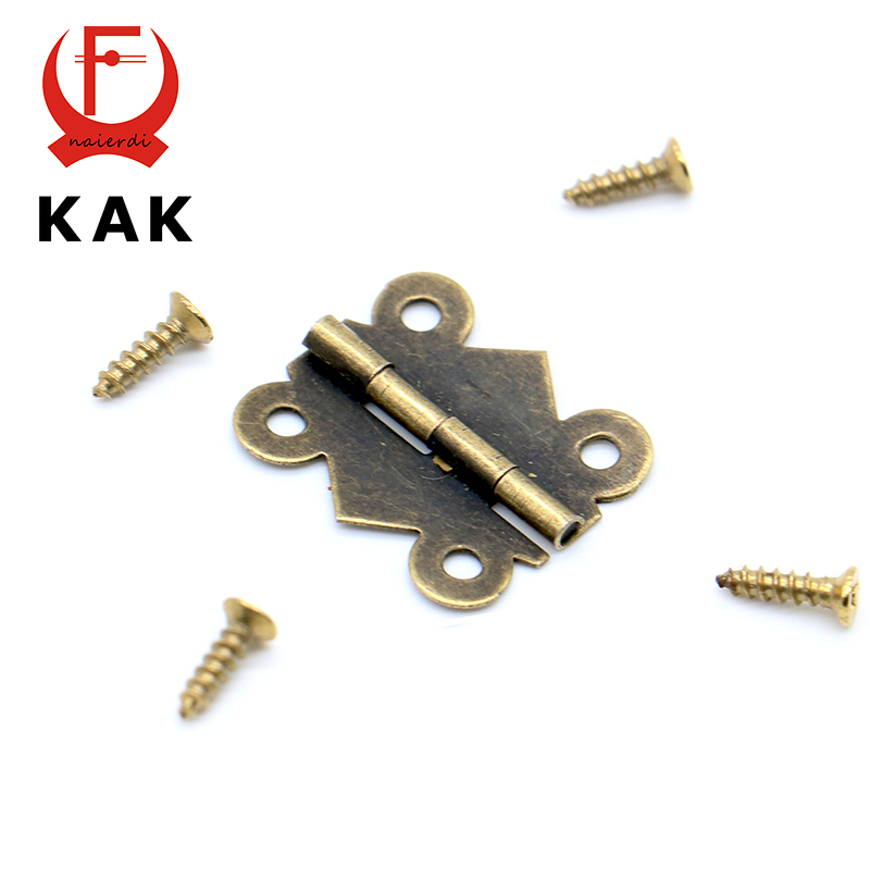 50pcs KAK 20mm x17mm Bronze Gold Silver Mini Butterfly Door Hinges Cabinet Drawer Jewellery Box Hinge For Furniture Hardware(China (Mainland))