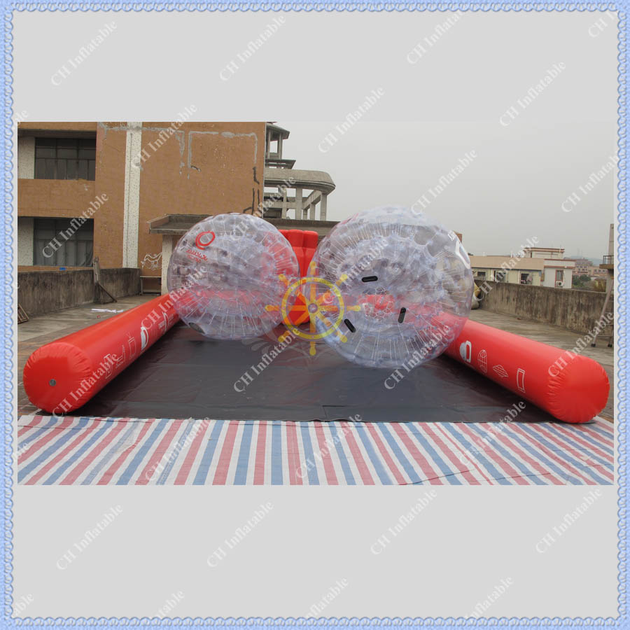 Free Shipping Giant Inflatable Bowling Set Game+ 2 Zorb Ball+2 air pump+6 bowling ball High Quality Human Body Zorb Blowing Game(China (Mainland))