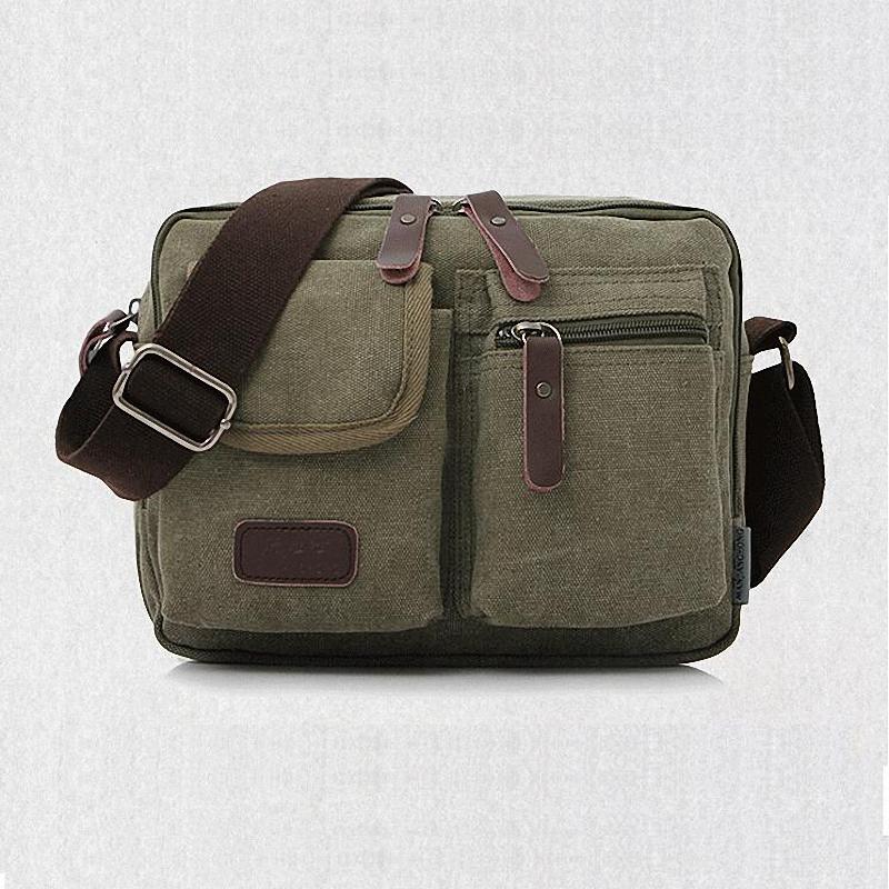 High quality fashion canvas handbags classic casual man canvas handbags men canvas messenger bags one shoulder military LI-220(China (Mainland))