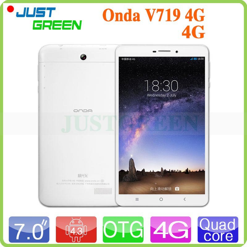 Original ONDA V719 4G Tablet PC Quad Core 1 3GHz 1GB RAM 8GB ROM IPS 1024x600
