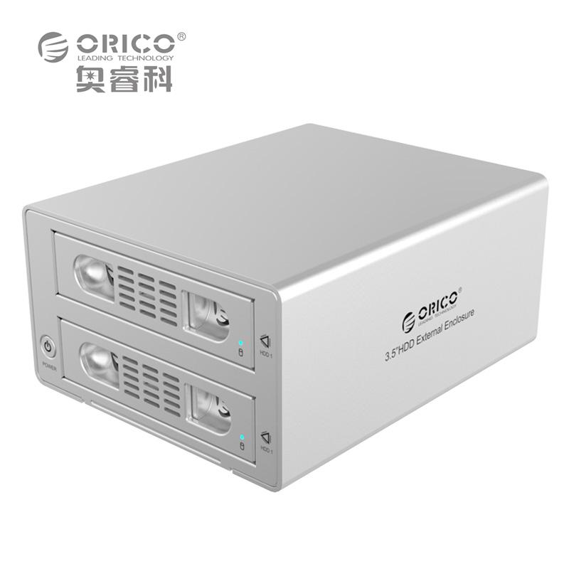 "ORICO 3529RUS3 Tool Free Aluminum 2 Bay 3.5"" SATA2.0 USB3.0&eSATA HDD External Docking Station RAID Function 2bay HDD Case(China (Mainland))"