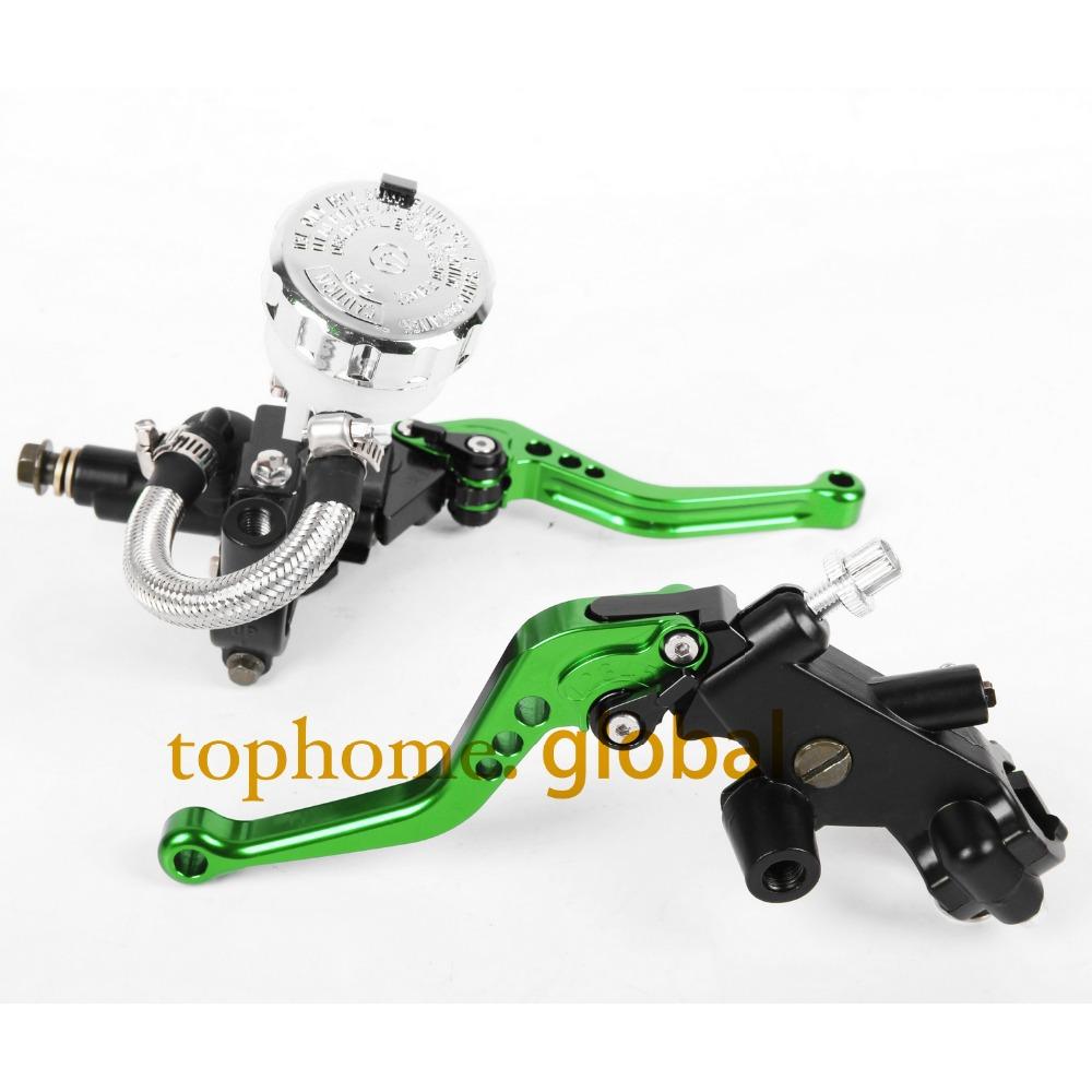 Front Brake Master Cylinder&amp;Clutch Brake Levers 7/8with Adjustable Fluid Reservoir For Kawasaki VN1600 Classic+Tourer 2003-2005<br><br>Aliexpress