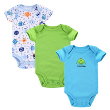 3pcs/lot Baby Romper Summer Baby Clothing Newborn Baby Boy Clothes Baby Overall Bebe Clothes