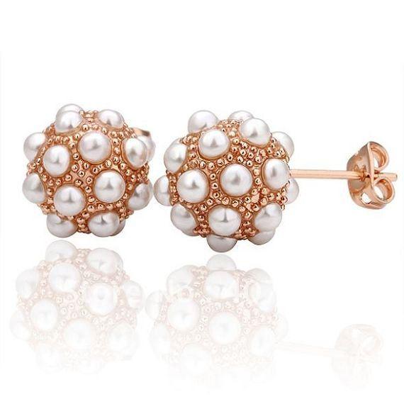 Pearl Stud Earrings Wholesale Pearl Stud Earrings Gold