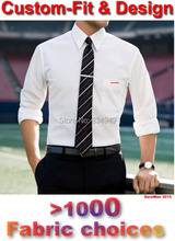 Mens Dress Shirts Custom Made White Men Shirt Long Sleeve Plaid Striped Mens Shirts Fashion Custom Tailored Slim Fit Shirt Dress(China (Mainland))
