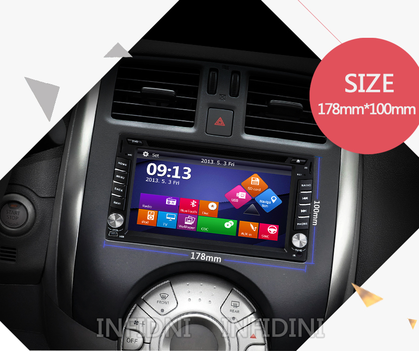 Car DVD GPS Navigation 2 DIN universal for Nissan X-TRAIL Qashqai Note Pathfinder Sylphy Tiida Sunny Car GPS Bluetooth USB/SD(China (Mainland))