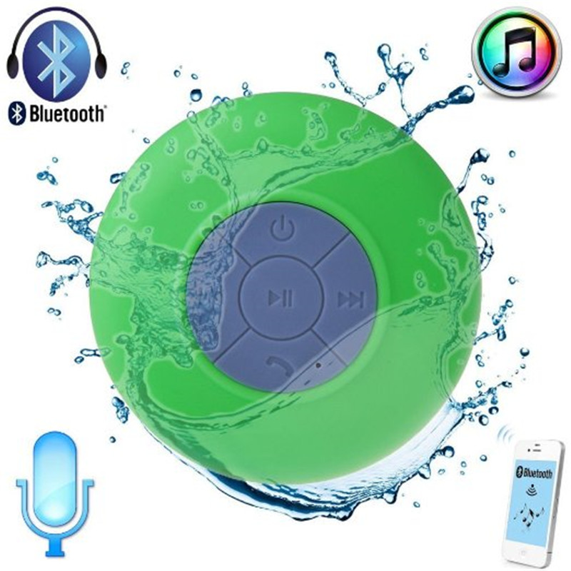 BTS-06 Portable Mini Waterproof Shower Stereo Wireless Bluetooth Speaker Handsfree Suction CupFor iPhone CellPhone Laptop Tablet(China (Mainland))