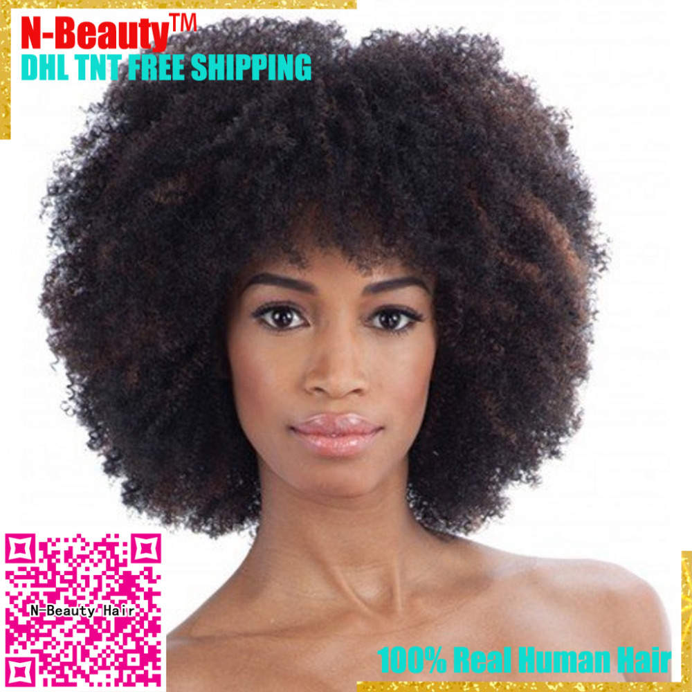 Indian Afro Curly Virgin Hair 7A Jerry Kinky Curly Human Hair Indian Hair Tight Curly Weave 4PCs Cheap Hair Extension Bundles
