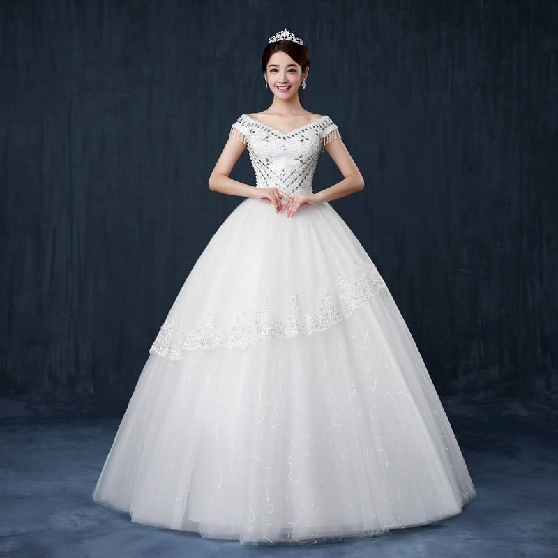vestido de noiva de renda 2016 new design luxury wedding dresses bride princess wedding gowns handmade