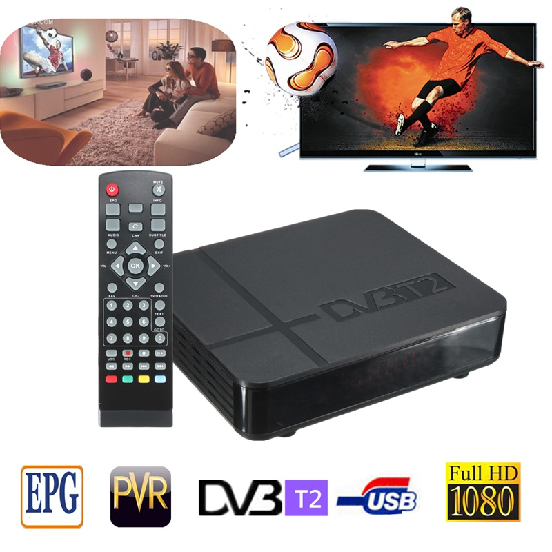 NEW Arrival Best Price Durable HD 1080P K2 DVB-T2 Digital Video Terrestrial PVR Receiver STB TV Box +Remote High Quality(China (Mainland))