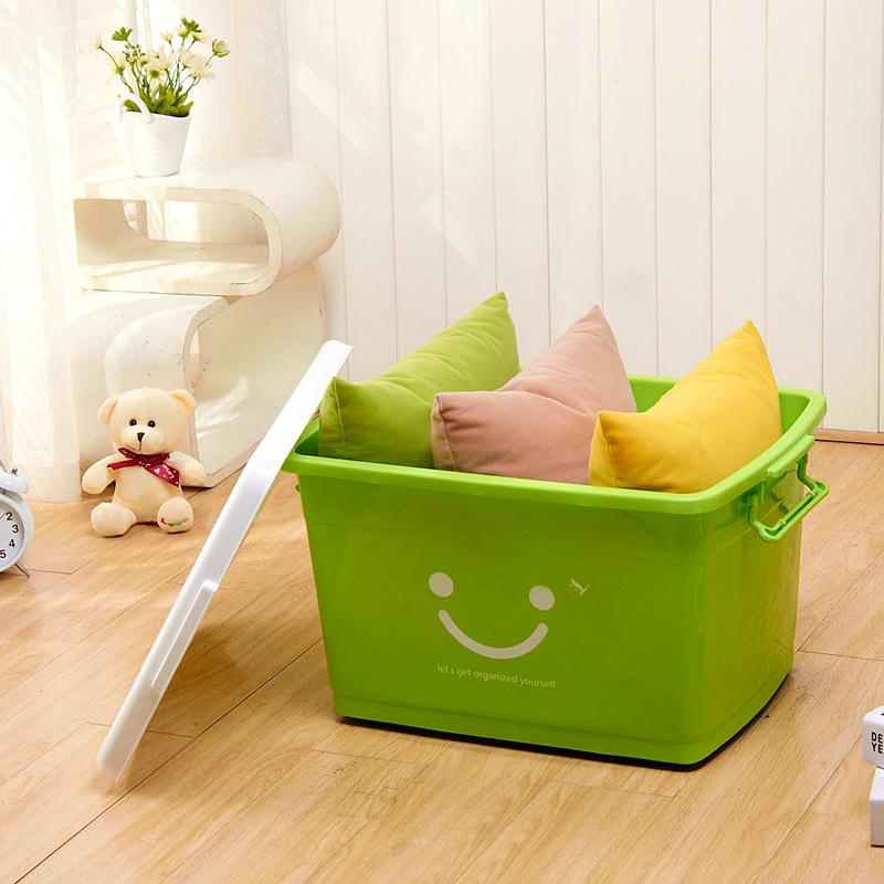 Willow King smiley portable plastic storage box supplies Cabernet box storage box with lid(China (Mainland))