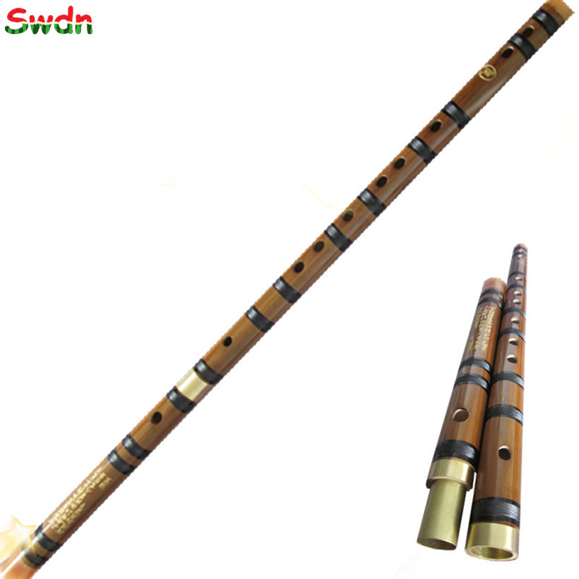 Chinese Bamboo flute Natural bamboo dizi national musical instruments Professional flauta Two section with brass plug(China (Mainland))