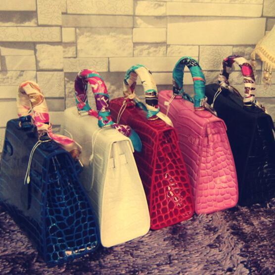 Big Size Luxury Her Women Birk Bag with Silk Scarf crocodile grain Handbag  Lock Platinum handbag ol Quality One Shoulder Bags<br><br>Aliexpress