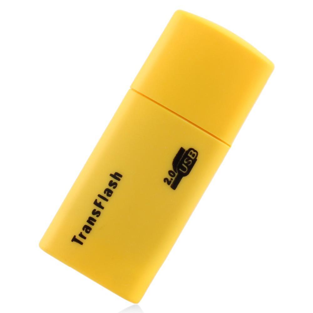 Free Shipping Phone Memory Card Micro SD Card Reader Adaptor USB 2.0 Wholesale Cheap Portable Mini USB2.0 Card Reader(China (Mainland))