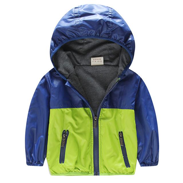 Повседневная Весна Куртки Для Мальчиков 18 М ~ 8 Т детские Куртки Детская Одежда С Капюшоном Мальчиков Куртки Спорта открытый Бурелом SC222