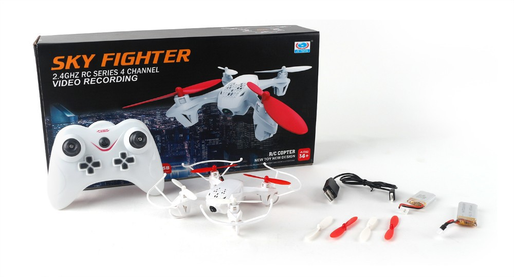 Sky Fighter JY001 2.4G RC Quadrotor 4 Channel Video Recording with 2.0MP Camera 14+ age Boys Gift R/C copter RC Drone UAV RC Toy(China (Mainland))
