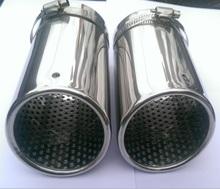 Новый 1 пара серебро хром глушитель совет газа для VW Passat B6 B7 CC Magotan Volvo XC60 XC90