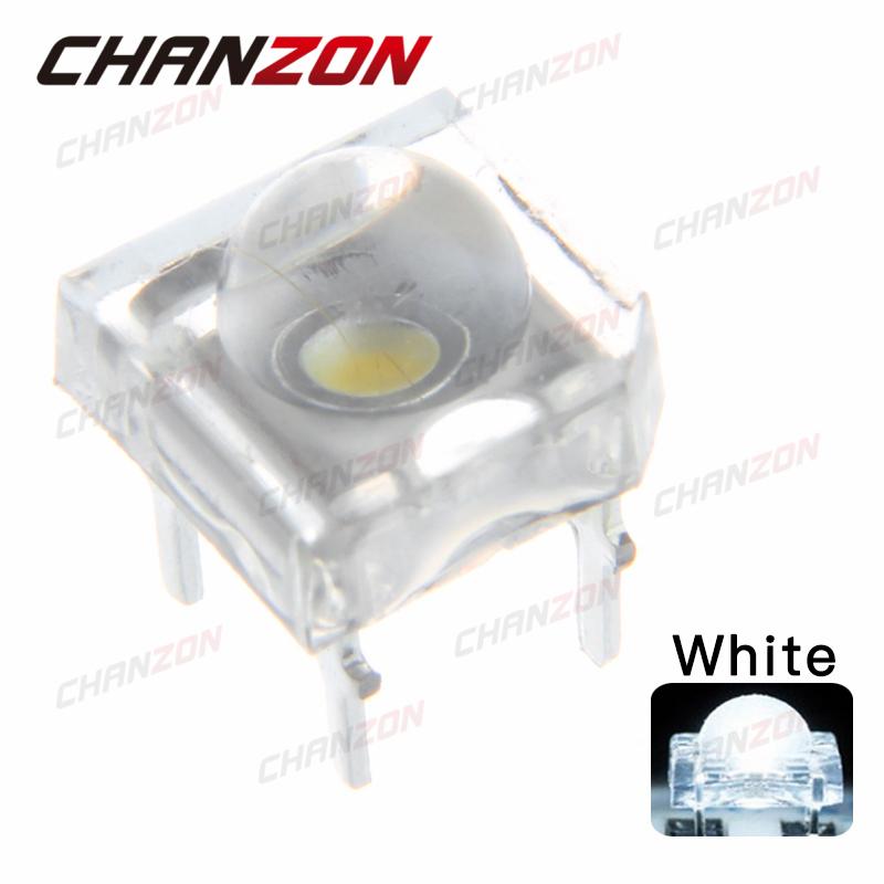 100pcs 5mm Clear Lens Piranha LED Diode 5 mm Round Top Super Flux White Transparent Light Emitting Diode LED Lamp(China (Mainland))