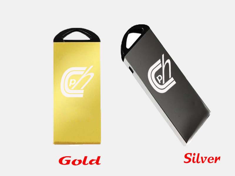 Metal Crystal Gold Stainless steel USB 2.0 Flash Drive 8GB 16GB pendrive 32GB u stick Memory Stick free shipping default custom(China (Mainland))