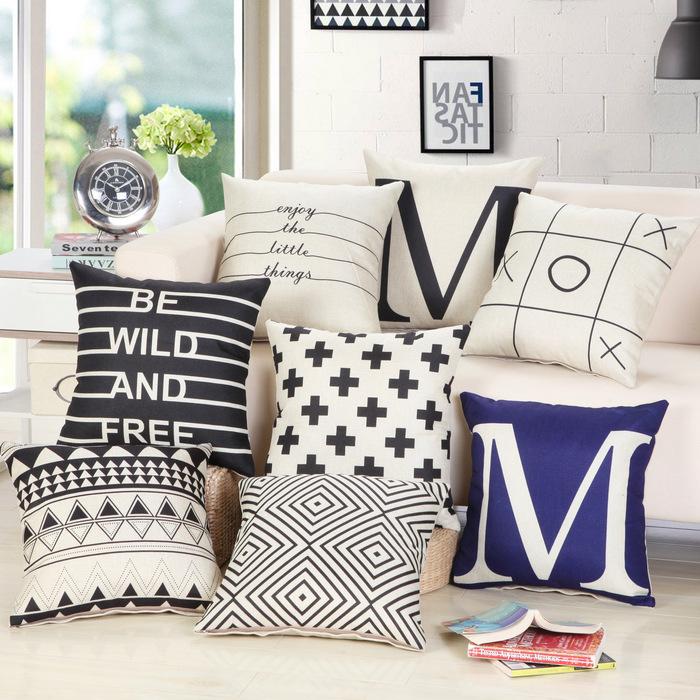 New Arrival European Cushion Home Car Throw Pillows Cases Cotton and Linen Pillows Decorative Throw Pillowcase JGZM588