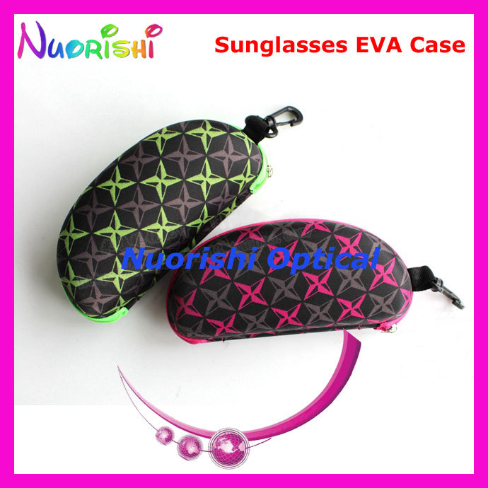 ML012 nice zipper sunglasses case EVA glasses eyewear case with hook free shipping(China (Mainland))