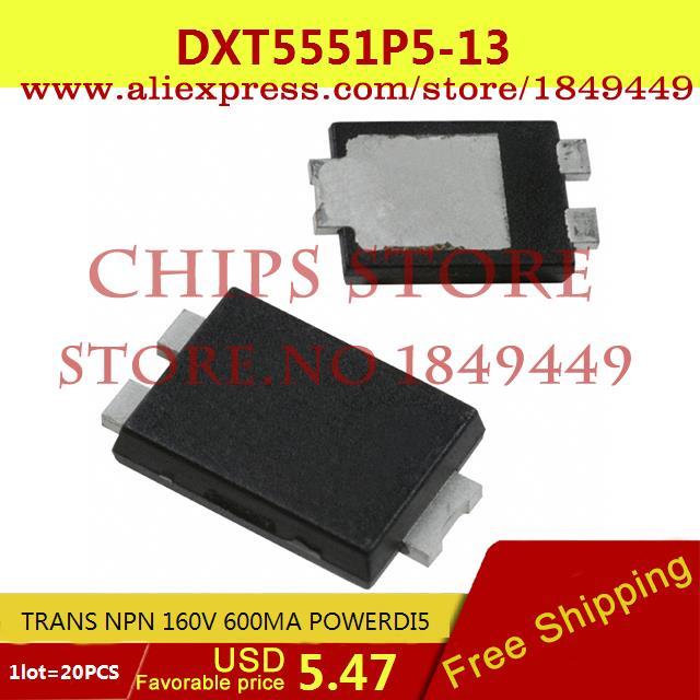 Бесплатная Доставка Горячей Продажи Smart Electronics Integrated Circuit DXT5551P5-13 TRANS NPN 160 В 600MA POWERDI5 5551 DXT5551 20 ШТ. куплю маз 5551 5549 в украине