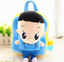 Gift for baby 1pc 25cm cartoon little animation son boy plush doll backpacks cute students shoulder bag Satchel girl toy